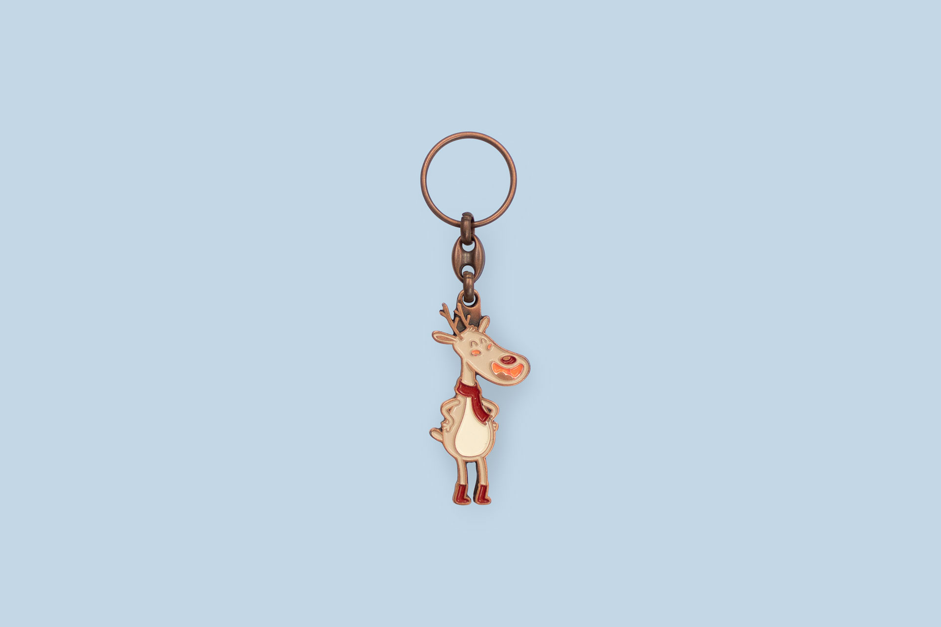 Copper-colored plated enamel Keychain